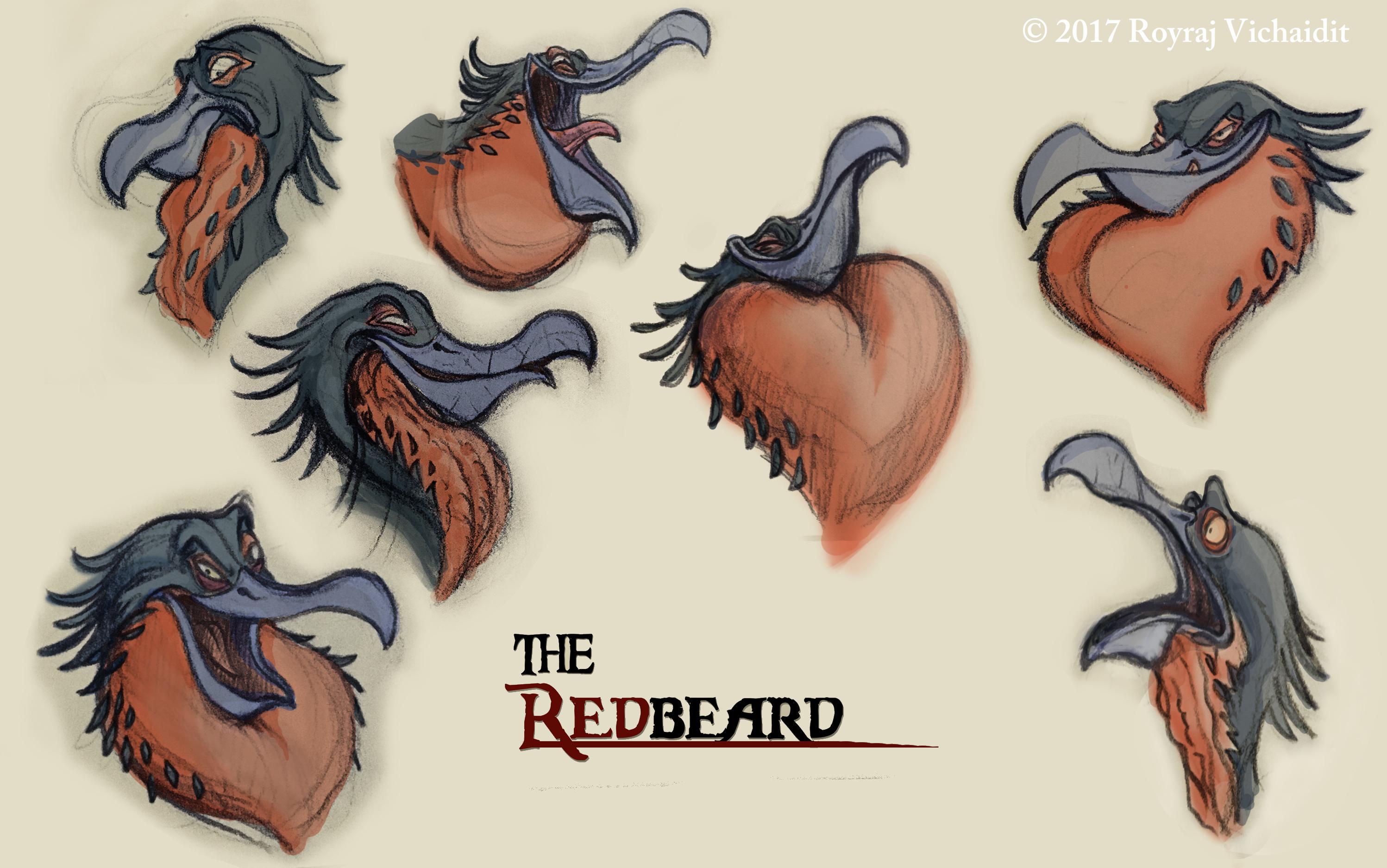 Redbeard expression sheet
