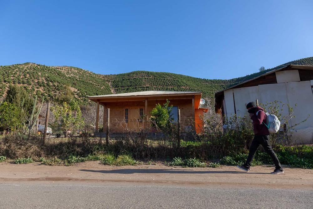 Muchas casas están en las cercanías de las plantaciones. Los pesticidas alcanzan completamente los espacios habitados. Foto Rodrigo Salinas
