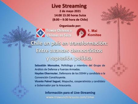"""Live Streaming """"Chile un país en transformación: Entre avances democráticos y represión política"""""""