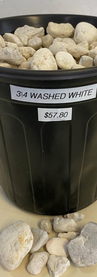 3/4 Washed White