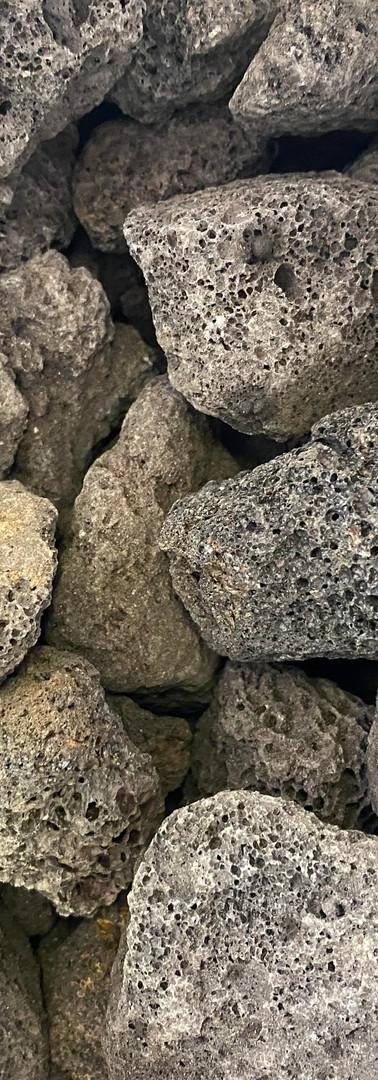 Black Lava Rock - Bag Only