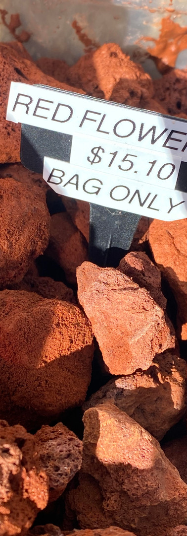 Red Lava Rock - Bag Only