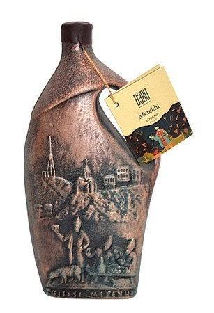 Bebu Wein Metekhi Saperavi Keramik rot trocken 0,75L 12,5% 1/6