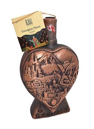 Bebu Wein Herz Saperavi Keram.rot,tr. 0,75L 12,5% 1/6