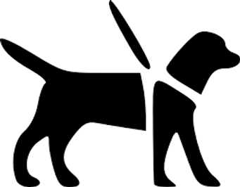 Icon of a service dog.