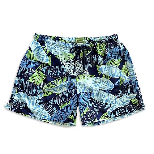 La Palma Eco-Beachwear Classic Botanical Sustainable Swim Trunks