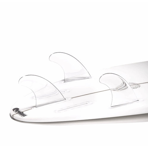 DORSAL Performance Flexrez Core Surfboard Thruster Fins (3) FUT Compatible Clear