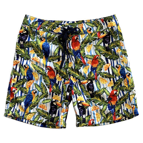 """Sustainable Surf Tropical 17"""" Boardshorts Made From Recycled PET Bottles"""