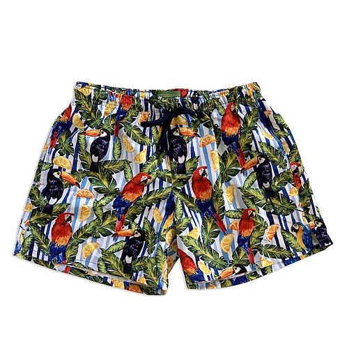 La Palma Eco-Beachwear: Classic Tropical Style Sustainable Swim Trunks