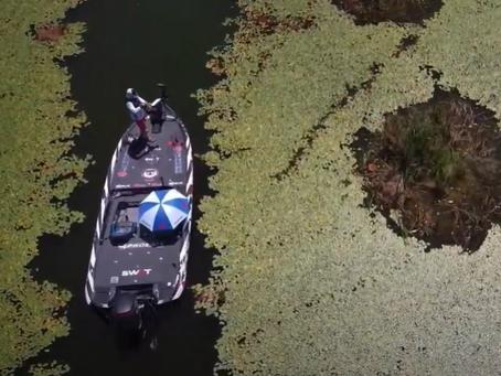 Frog Blow-ups Caught on Drone !  Major League Fishing Pro Gerald Spohrer