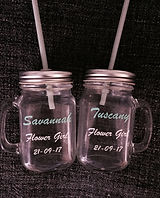 Personalised Drinking Jars