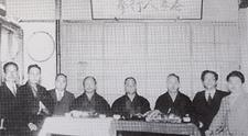 H.Ohtsuka, Funakoshi, Motobu, Mabuni meeting