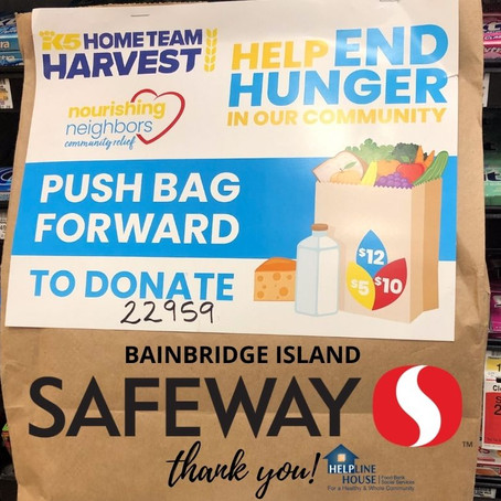 K5 Home Team Harvest and Safeway Connect Bainbridge Islanders!