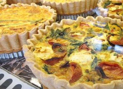 Windy Ridge Bakery - Artichoke, Mushroom and Red Bell Pepper Quiche