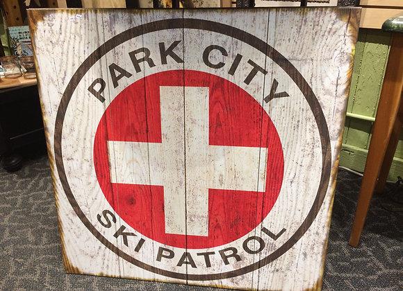 """""""Old"""" Park City Ski Patrol Sign"""