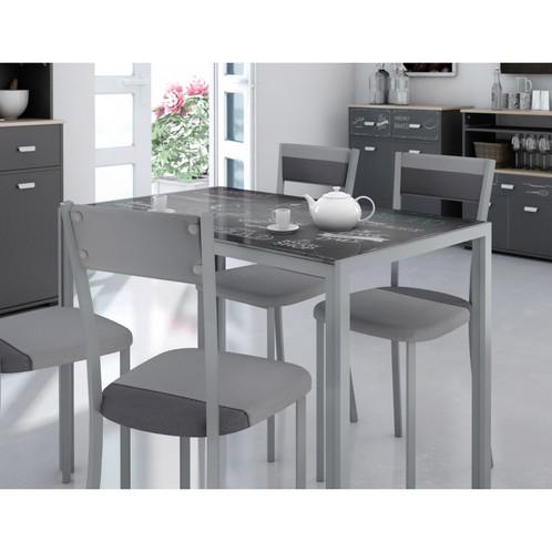 Mesa cocina Bakery 105x60cm, cristal templado | Electrodomesticos ...