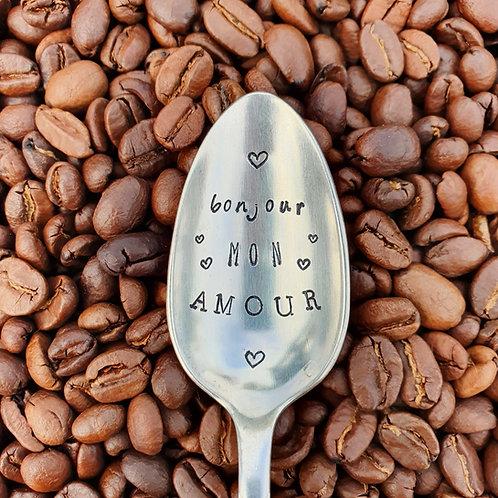 Cuillère Métal Argenté -Bonjour mon Amour