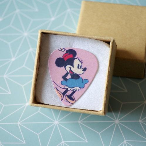 Pin's Médiator Minnie - Dessin Disney Vintage Rose