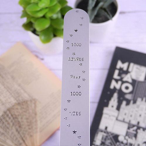 Marque-page - 1000 Livres pour 1000 Vies