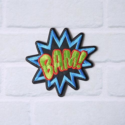 Patch thermocollant BAM - Mot Bande Dessinée