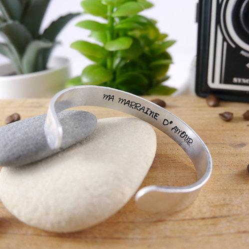 Bracelet Jonc - Ma Marraine d'Amour