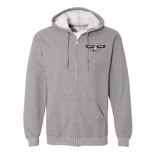 Embroidered Zippered Hoodies - Small, Medium, Large, Extra Large - Black or Gray