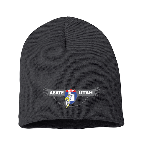 Embroidered Beanie - Black or Gray