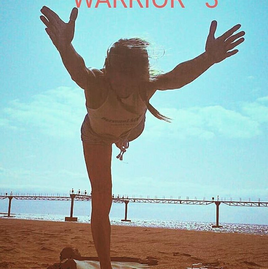 #yoga #warrior #sea #yogaatthesea #yogat