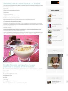 Valérie Cupillard - Recette florale de crème anglaise à la