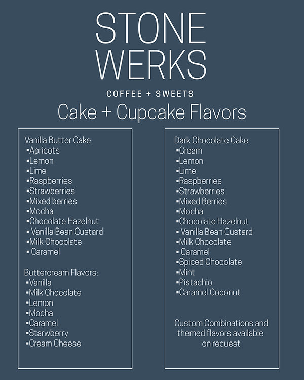 Weddign Cake Flavors by Stone Werks Bakery in Maryland