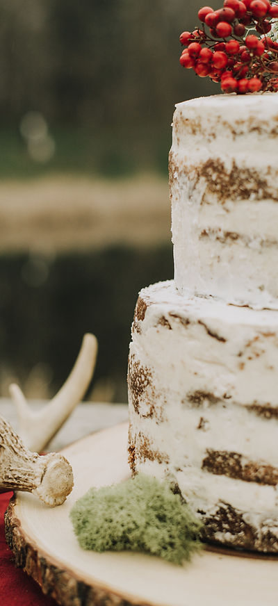 Naked Wedding Cake by Stone Werks Bakery in Boonsboro Maryland