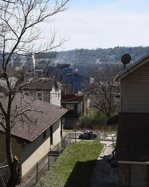 View of U.S. Steel mill from Kirkpatrick Street, North Braddock, Pa.