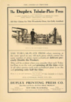 1913 Duplex Press ad