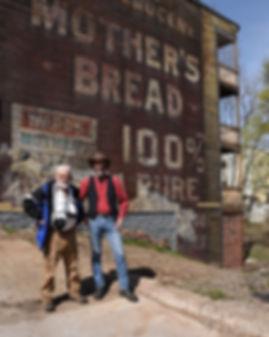 George Hiotis and Oren B. Helbok on Dobson Street, Pittsburgh