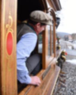 Steam Into History, New Freedom, Pa., engineer Stephen Lane