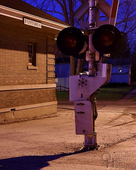 Iron Triangle, Fostoria, Ohio, B&O depot, South Main Street, Oren B. Helbok photo