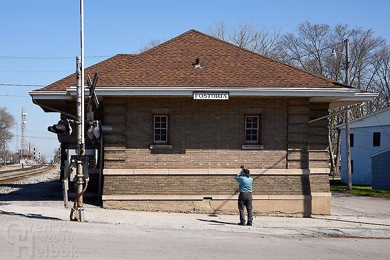 B. & O depot, Iron Triangle, Fostoria, Ohio, Oren B. Helbok photo