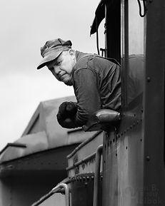 Arcade & Attica Railroad engineer Brad Mapes at Curriers