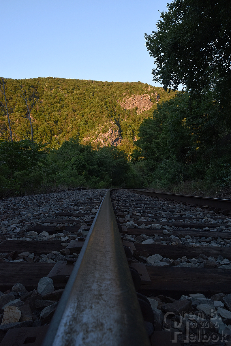 Water Gap railhead view 1