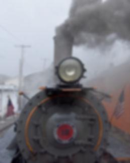 Arcade & Attica Railroad #18 in the rain