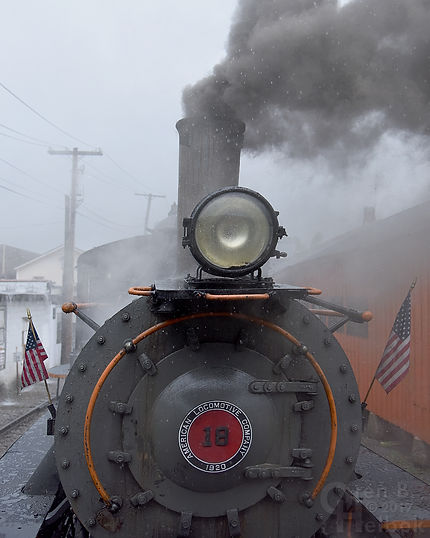 Arcade & Attica Railroad #18 in the rain