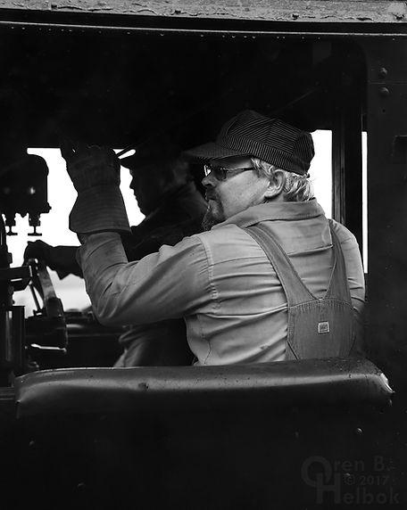 Arcade & Attica Railroad engine crew Brad Mapes and Dean Steffenhagen