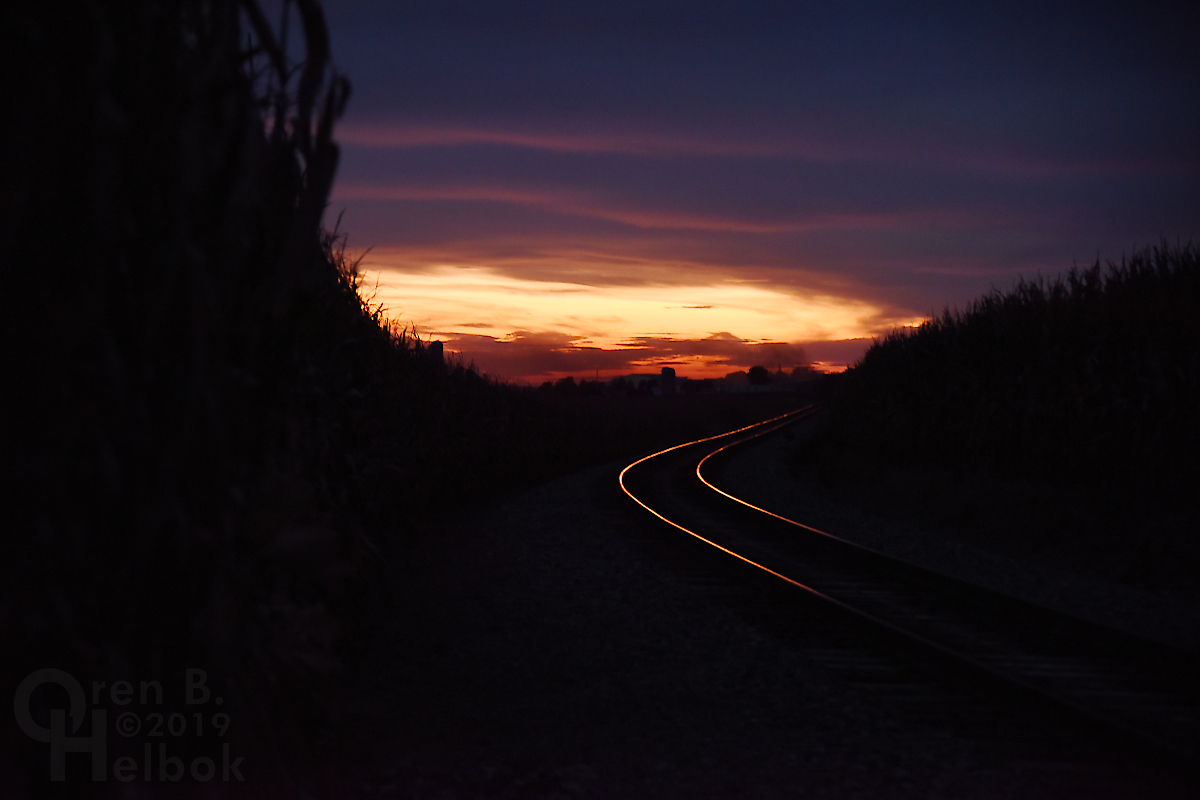 Sunset on the Strasburg Rail Road