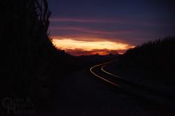 Sunset on the Strasburg Rail Road