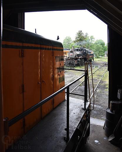 Arcade & Attica Railroad #18 seen from th enginehouse
