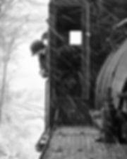 Strasburg Rail Road snow Blackhorse Road #89 engineer Ross Gochenaur