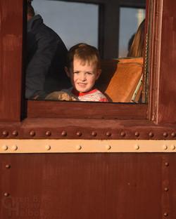 Young passenger at Hollidaysburg