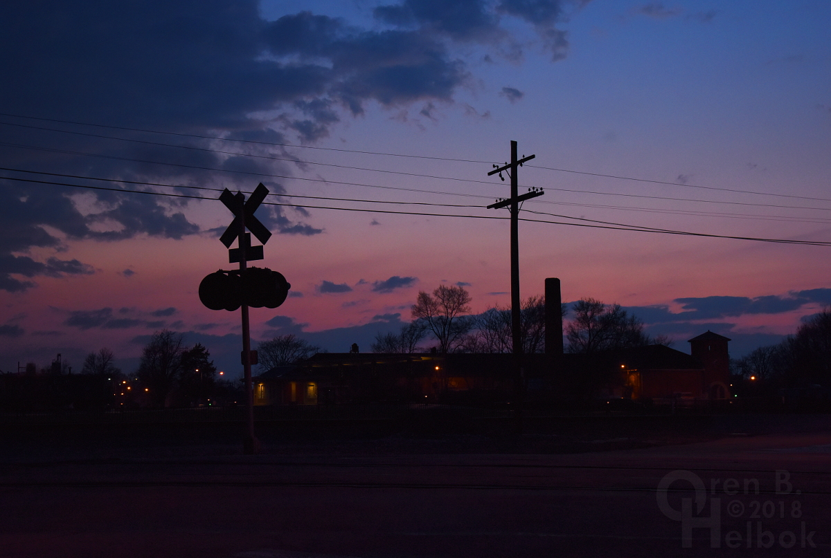 Dusk in Fostoria, Ohio