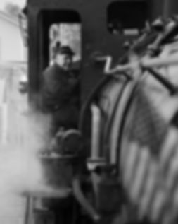 Arcade & Attica Railroad engineer Brad Mapes