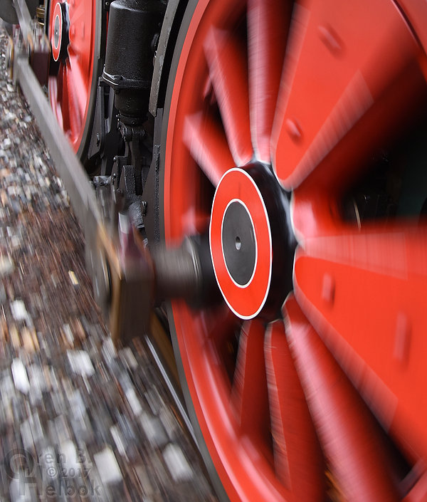 Steam Into History York #17 driving wheels and siderods